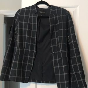 Banana Republic Plaid Boyfriend Fit Blazer